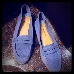 NWOT Lucky Brand  Blue Leather Loafers.Size 7.5